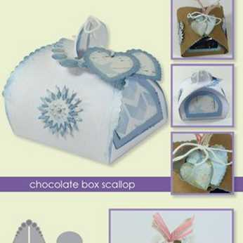 CraftEmotions Stanze chocolate box scallop