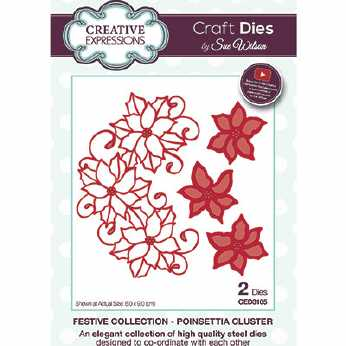 Creative Expressions Stanze Poinsettia Cluster