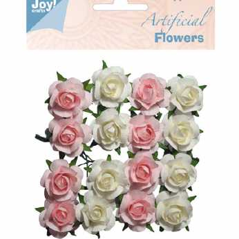 Joy Crafts Artificial Flowers weiss-rosa