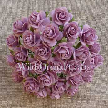 10 Stk. Rosen open roses rose pink 10 mm