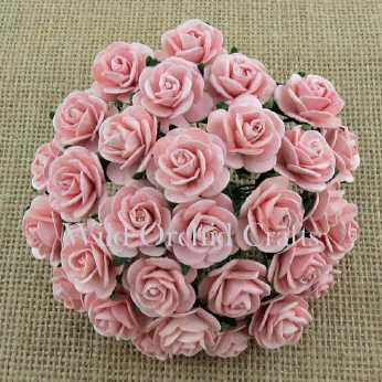 10 Stk. Rosen open roses rose pink 20 mm
