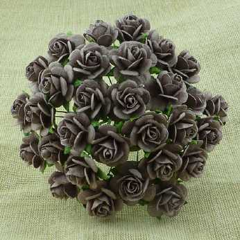 10 Stk. Rosen open roses walnut 10 mm