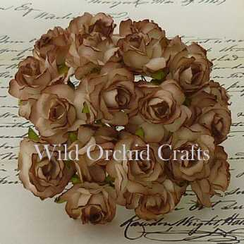5 Stk. Rosen wild roses brown 30mm