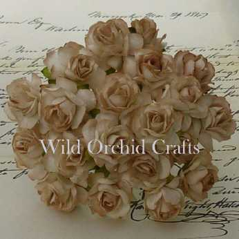 5 Stk. Rosen wild roses tan 30mm