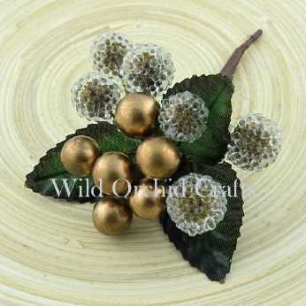 Gold Christmas Berry Spray small