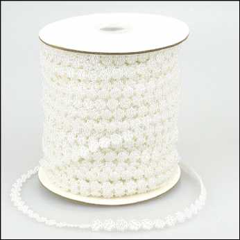 Pearl Strings Mini Flowers white