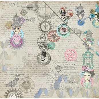Fabscraps Scrapbookingpapier Fly Girl