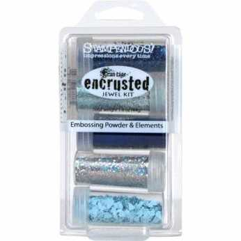 Stampendous encrusted jewel kit blue