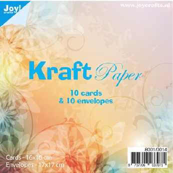 JoyCrafts Kraft Cards & Envelopes 16,0 x 16,0 cm