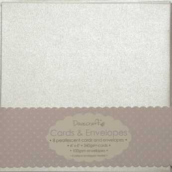 "Dovecraft Cards & Envelopes 6x6"" pearlescent"