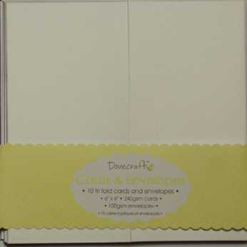 Dovecraft Tri Fold Cards & Envelopes 6x6""