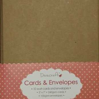 Dovecraft Kraft Cards & Envelopes 5x7""