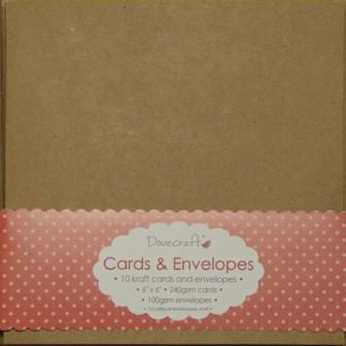 Dovecraft Kraft Cards & Envelopes 6x6""