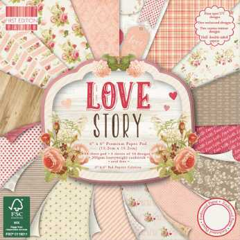 First Edition Paper Pad Love Story 6x6""