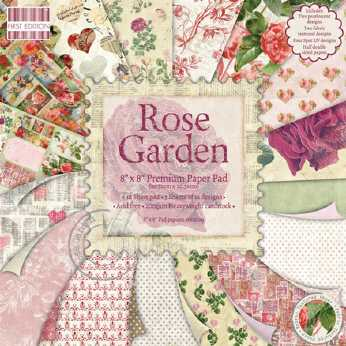 First Edition Paper Pad Rose Garden 8x8""