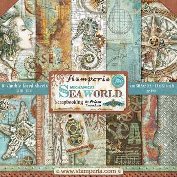 Stamperia Paper Pad Mechanical Sea World