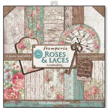 Stamperia Paper Pad Roses & Laces