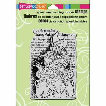 Stampendous Cling Botanical Clematis