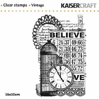 Vintage Believe Clear Stamp