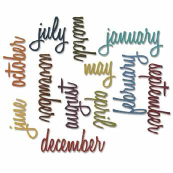 Tim Holtz Stanze Calender Words Script