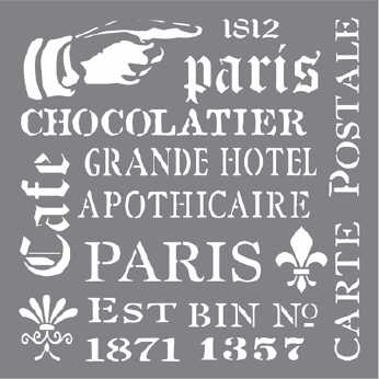 Andy Skinner Stencil French Elements