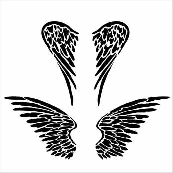 TCW Stencil Angel Wings