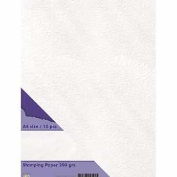 Nellies Stamping Paper weiss