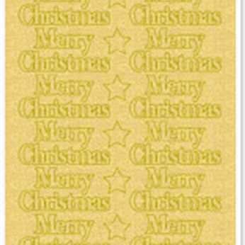Sticker, Merry Christmas, gold-perlmutt-gold