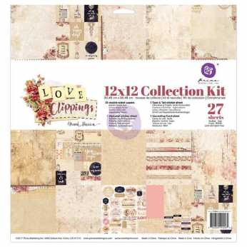 Prima Collection Kit Love Clippings 12x12