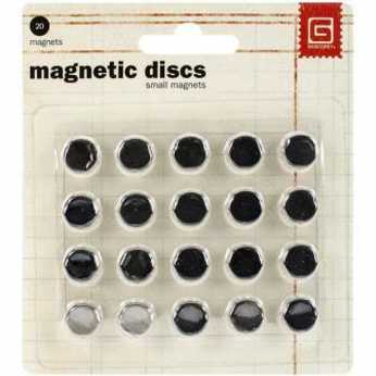 BasicGrey small magnetic discs strong