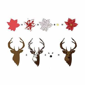 HobbySolution 3D Clearstamps Reindeer