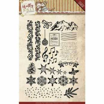 Yvonne Creations Clearstamp Holly Jolly Christmas