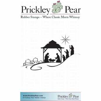 Prickley Pear Cling Nativity Scene