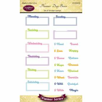 JustRite Clearstamps Planner Diet & Exercise