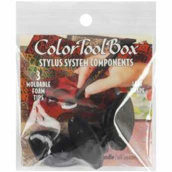 ColorBox Foam Tips leaf moldable black