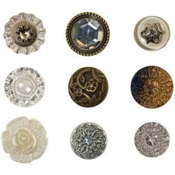 Idea-Ology Accoutrements Buttons Fanciful