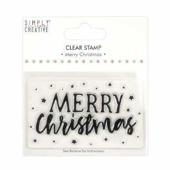 Simply Creative Clear Stamp Merry Christmas