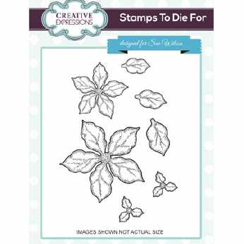 Creative Expressions Stamps Shaded Poinsettia