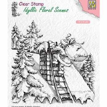 Nellie´s Clearstamp Santa Claus at work