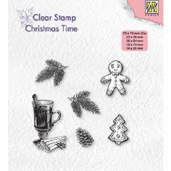 Nellies Choice Clearstamps Christmas Decorations