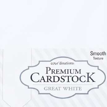 Core'dinations Premium Cardstock Great White