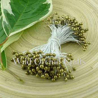 Gold Double Head Pearl Stamens