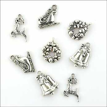 Metal Charms Baby Time