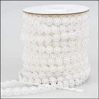 Pearl Strings Lattice Weave white