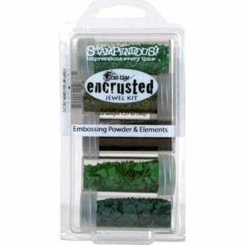 Stampendous encrusted jewel kit green