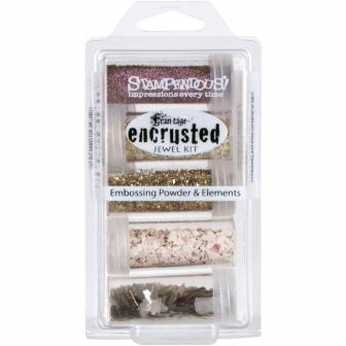 Stampendous encrusted jewel kit pink