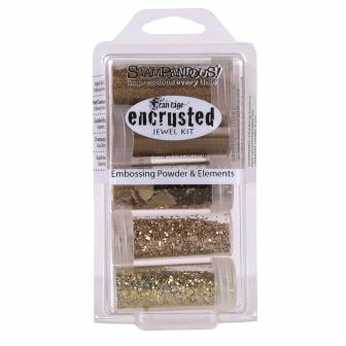 Stampendous encrusted jewel kit gold