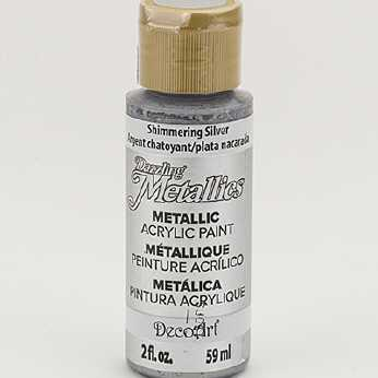 Dazzling Metallic Acrylic Paint Shimmering Silver