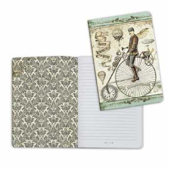 Stamperia Notebook Voyages Fantastiques Bicycle