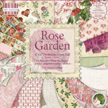 First Edition Paper Pad Rose Garden 6x6""
